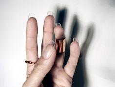 Transparent Nails :P