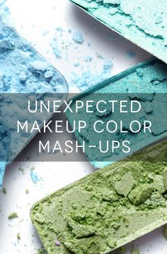 How to wear navy eyeshadow with peach blush, and more unconventional color combos.