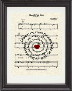 Julia Song Lyric Sheet Music Art Print, The Beatles Art ... - photo#42