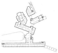 Sanatorium à Paimio par Alvar Aalto Alvar Aalto, Architecture Drawings, Architecture Plan, Modern Hospital, Healthcare Architecture, Treatment Rooms, Roof Light, Heating Systems, Floor Plans