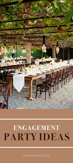 Beautiful and unique ideas to throw a memorable engagement party for family and friends.