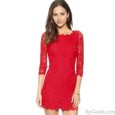 Crocheted Floral Print Embroidery Hollow Out Lace Dress only $35 in ByGoods.com! #bygoods #Crocheted #Floral #Print #Embroidery #Hollow #Out #Lace #Dress
