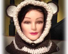 Teddy bear hooded cowl Hooded Cowl, Winter Hats, Crochet Hats, Teddy Bear, Inspiration, Fashion, Knitting Hats, Biblical Inspiration, Moda