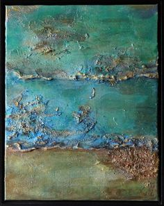 Oceans Alive is a high textured mixed media acrylic painting. Marble dust is used for texture along with sand and pumice. Multiple glazes and metallic are incorporated into the painting. Durable hi...