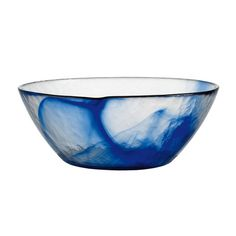 Murano salad bowl......  glass+salad+bowl+in+marbleized+blue.+  Product:+Salad+bowlConstruction+Material:+GlassColor:+Blue...