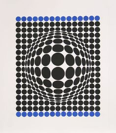 Victor Vasarely Aquatint Etching