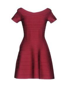 HERVÉ LÉGER BY MAX AZRIA Women's Short dress Maroon XXS INT