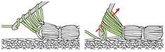 Crochet Offset Puff Stitch - Chart ❥ 4U // hf