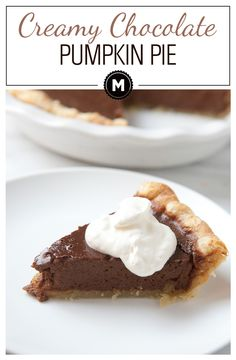 Rich and creamy chocolate pumpkin pie in a homemade butter pie crust. This is the pie you've been waiting for.