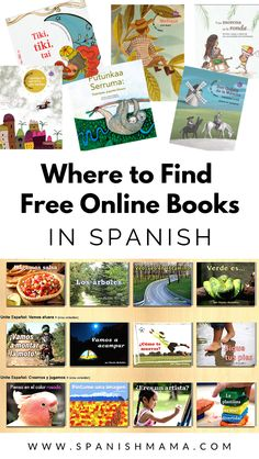A guide to finding free Spanish books online. You can see books for Spanish learners and students, as well as more advanced options for bilingual kids. Preschool Spanish Lessons, Spanish Teaching Resources, Spanish Lesson Plans, Spanish Activities, Spanish Language Learning, Listening Activities, Teacher Resources, Bilingual Classroom, Spanish Classroom