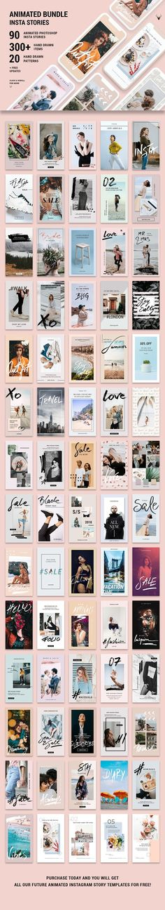 ANIMATED Instagram Stories Bundle by SilverStag on @creativemarket