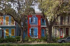 In Creole World Sexton compares these colorful façades on Esplanade Avenue in New Orleans with a similar scene in Cap Haïtien, Haiti.
