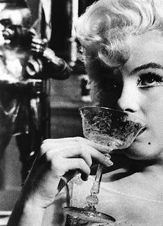 Marilyn Monroe on the set of Some Like It Hot, 1958.