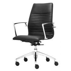 Tiger Low Back Office Chair Black   Memoky.com