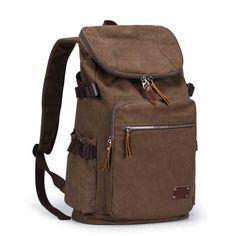 Muzee Men Vintage Canvas Leather Satchel School Military Shoulder Bag ME0888 #Muzee #Backpack