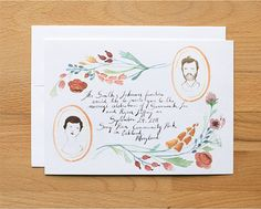 illustrated invitations