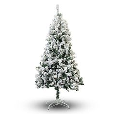 Perfect Holiday Christmas Tree, 4-Feet, Flocked Snow **ONLY AVAILABLE TO USA ** ***DELIVERY WITHIN 7 DAYS TO USA** Beautifully crafted with 231 PVC tips Built with hinged branches for easy storage Inc