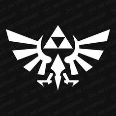 Legend of Zelda Hyrule Triforce Logo Vinyl Decal