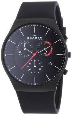 Skagen Herren-Armbanduhr XL Chronograph Quarz Silikon SKW6075