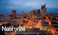 Going to Nashville next weekend - first time, we'll see if it's with it :)