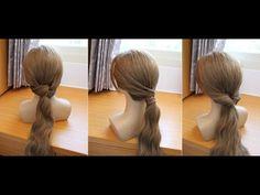 三種簡單快速低馬尾 髮型教學 - YouTube