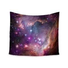 """Suzanne Carter """"Cosmic Cloud"""" Celestial Purple Wall Tapestry"""