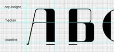 typeface design grid - Google Search