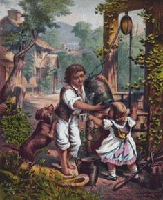 Children at Well Cross Stitch Pattern