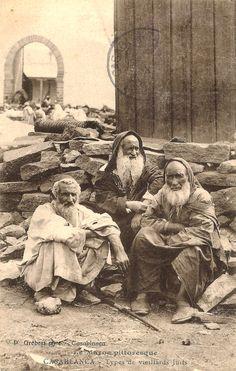 Maroc - Casablanca - Types de vieillards juifs