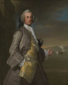 Captain Richard Chadwick (d.1748) by George Knapton, 1744. National Maritime Museum