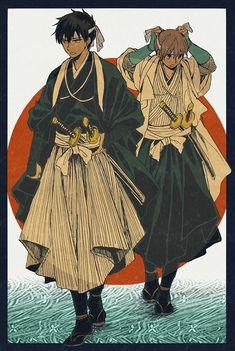 Hijikata and Okita Sougo - katana