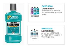 New Printable Coupons | Save on Listerine Mouthwash $.99