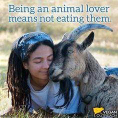 ...their flesh or their secretions; products of  their exploitation, enslavement, suffering, and slaughter. Show your love for animals by going vegan.