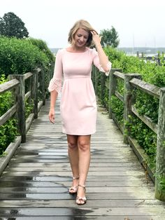 The Camilyn Beth 'Bella' Dress in Light Pink | Martha's Vineyard Style | Floral Inspiration | New England Style