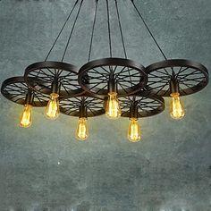 Max 60W Traditionnel/Classique / Rustique / Vintage / Rétro Ampoule incluse Peintures Métal Lustre / Lampe suspendueSalle de séjour /