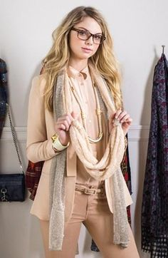 Add a scarf to mix up your office look