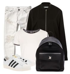 """""""aestethics"""" by zchristine ❤ liked on Polyvore featuring Abercrombie & Fitch, T By Alexander Wang, Topshop, adidas Originals and Alexander Wang"""