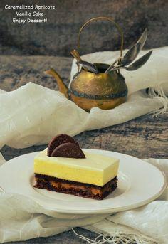 Prajitura cu caise caramelizate si vanilie