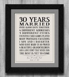 EASY DIY on word pad - Personalized Anniversary Gift Our Story Time Line Family Life Marriage Subway Typography Print Custom Art Love Story Never Ends 30 Year Anniversary, 30th Wedding Anniversary, Parents Anniversary, Anniversary Parties, Anniversary Quotes, Homemade Gifts, Diy Gifts, Personalized Anniversary Gifts, U Bahn