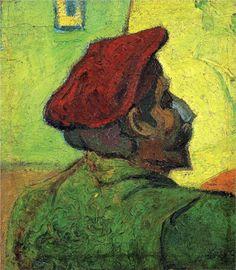 Paul Gauguin (Man in a Red Beret) - Vincent van Gogh, 1888