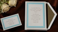 Wedding Invitations by Splash Designz  This bright white card is a stunning combination of mocha and tropical.