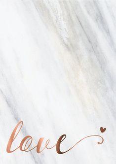 Amor amor grabado cobre cobre cotización amor por PeppaPennyPrints
