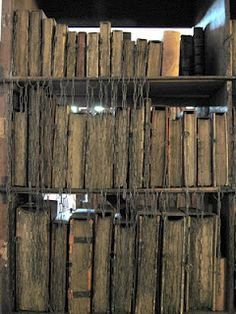 Hereford Cathedral Chained Library, Hereford  (Rare bookswere once kept chained to the bookshelf to prevent stealing.)