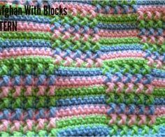 Crochet Afghan With Blocks