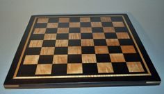 "Chess Board Handcrafted Peruvian Walnut, Curly Maple, Sweet Hill Wood 2"" squares on sale on eBay by #SweetHillWood 10% of the total price benefits #StJudes children's research hospital"