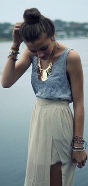 women's fashion  - Maybe a longer skirt
