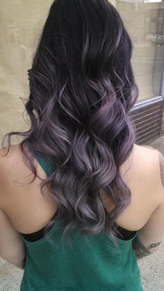Dark amethyst lavender ombré vivid haircolor mermaid hair Haircolor by Alysson King at Fabrik Salon