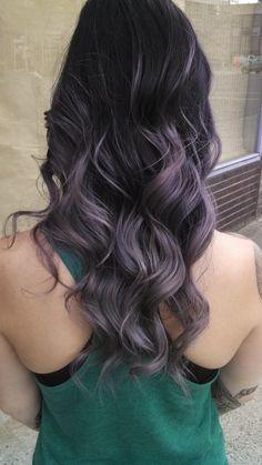 Dark amethyst lavender ombré vivid haircolor mermaid hair Haircolor by Alysson King at Fabrik Salon