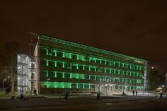 Talence University, Bordeaux, France – Lighting products: iGuzzini Illuminazione Photo: Didier Boy De La Tour #iGuzzini #Lighting #Light #Luce #Lumière #Licht #LinealuceMini #RGB #FacadeLighting #Facade