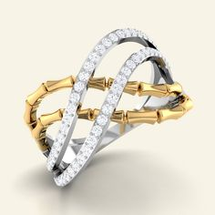 Shop Designer Firenze Diamond Ring at Caratstyle - Available at 14kt/18kt in White Gold Or Rose Gold with Free Shipping. Online Jewelry Shopping Store in India.